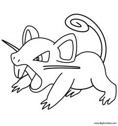 rattata coloring page pokemon