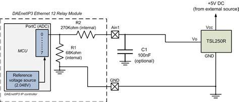 light to voltage optical sensor dae an009 connecting analog sensors to daenetip3 ethernet