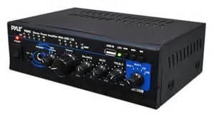 home audio lifier pyle home ptau45 mini 2x120 watt max stereo