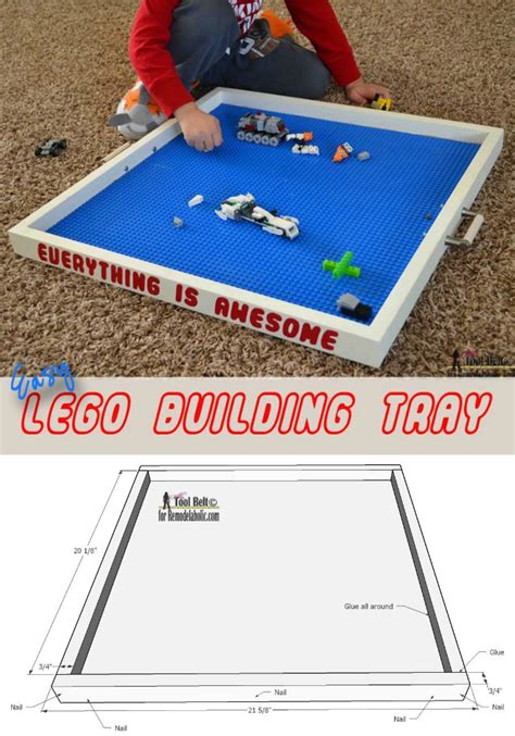 lego creations tutorial remodelaholic build an easy lego tray