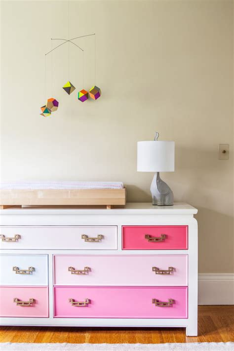 Dresser With Different Colored Drawers by Color Your World With Painted Furniture