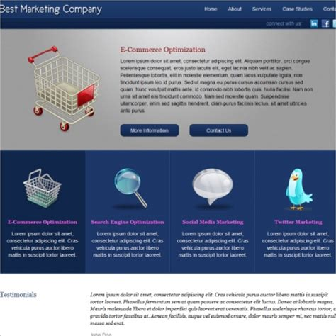 Marketing Website Template by Marketing Company Template Free Website Templates In Css
