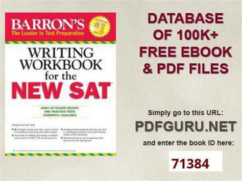 Barrons Sat Writing Workbook Review by Barron S Writing Workbook For The New Sat 4th Edition