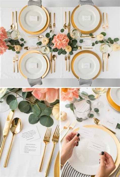 1000 ideas about table plate setting on pinterest the thanksgiving project sugar paper