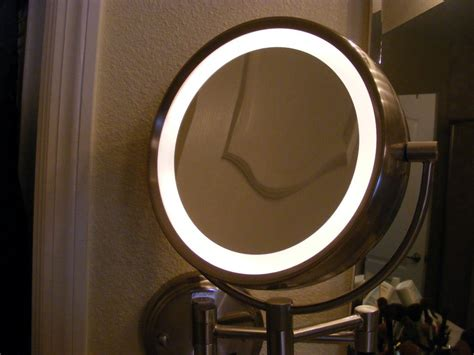 furnitures light up vanity wall mounted makeup mirror