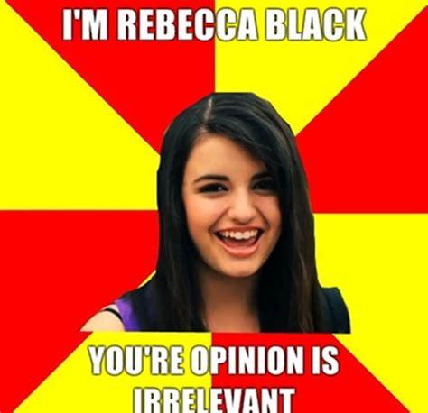 Rebecca Meme - rebecca black meme funny celebrity meme