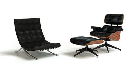 barcelona eames lounge chair modeling barcelona chair and eames lounge chair