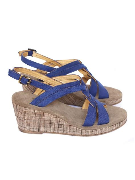 blue wedge sandals louise apc royal blue cotton canvas wedge sandals