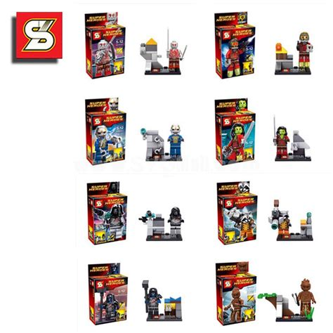 8 Pcs Mini Figure Set guardians of the galaxy blocks mini figure toys compatible with lego parts 8pcs set sy257 sygmall