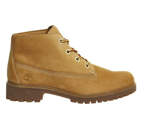 wheat boots timberland slim nellie chukka boots in beige wheat lyst