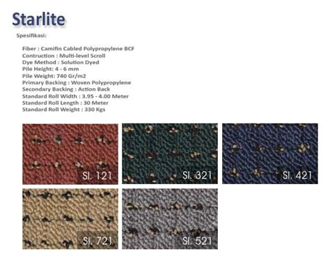 Daftar Karpet Buana starlite persada karpet