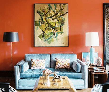 orange sofa interior design turquoise and orange interior design color palettes