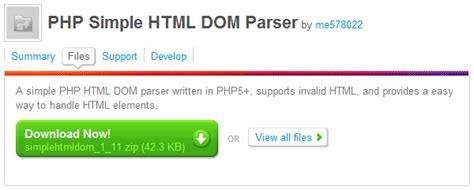tutorial php dom html parsing and screen scraping with the simple html dom