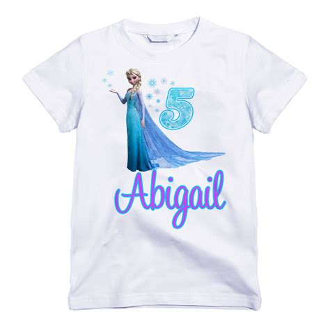 birthday themed shirts personalized queen elsa frozen themed birthday shirt