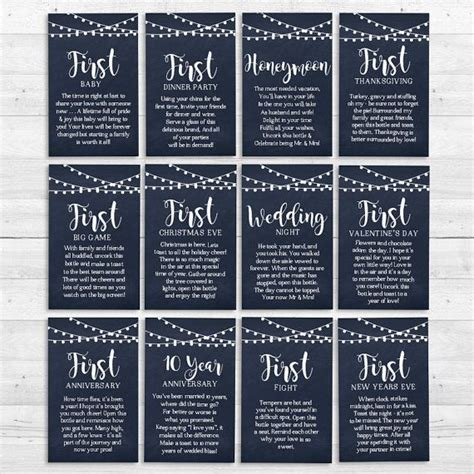 Wedding Gift Year Of Firsts by Wine Firsts Wedding Gift Wedding Media