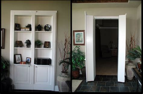 Replace A Closet Door With A Bookcase Door by Dio Home Renovations By Homeowners