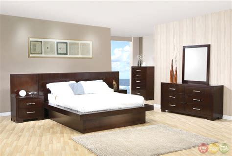 modern king size platform bedroom sets jessica modern platform cappuccino finish bedroom set free