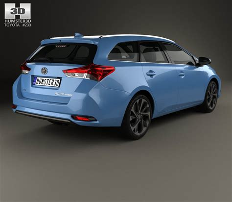Toyota 2015 Models Toyota Auris Touring Sports Hybrid 2015 3d Model Humster3d