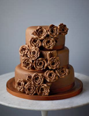 classic rose chocolate wedding cake | m&s