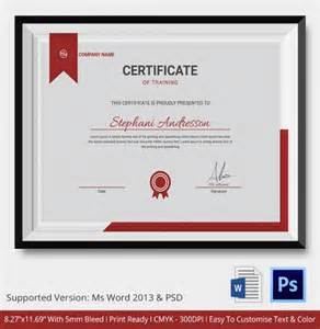 Training Certification Template Training Certificate Template 21 Free Word Pdf Psd