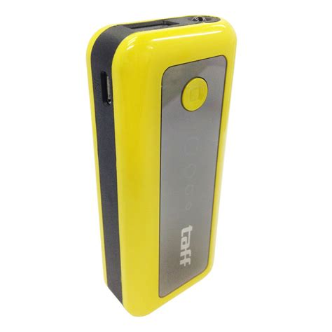 Taff Power Bank 5600mah Model Mp6 For Tablet And Smartphone taff power bank 5600mah model mp6 for tablet and smartphone yellow with black side