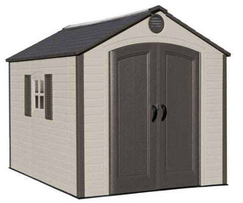 lifetime buildings  outdoor storage shed kit ridge