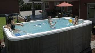 Pictures Of Nice Backyards What Is A Swim Spa Exactly A Pool Or Tub Both