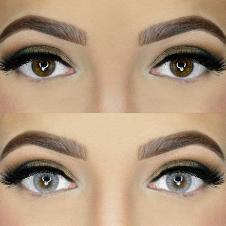 colored contacts for dark eyes before and after | www