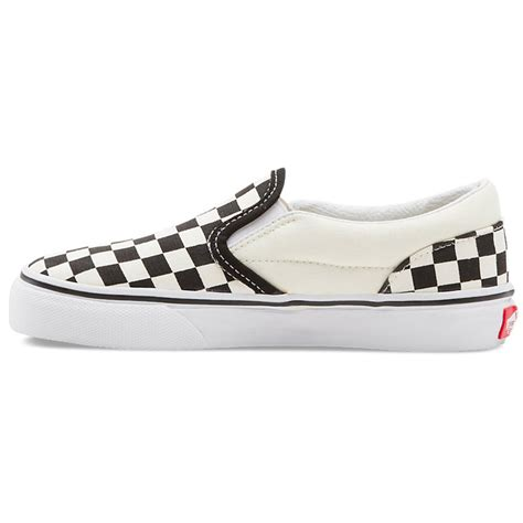 vans vn 0lygck2 youth classic slip on black true white