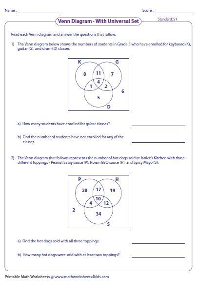 three set venn diagram word problems venn diagram word problems worksheets three sets