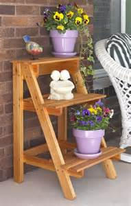 Outdoor Plant Table by Tiered Outdoor Plant Stand Plans Woodworking Projects