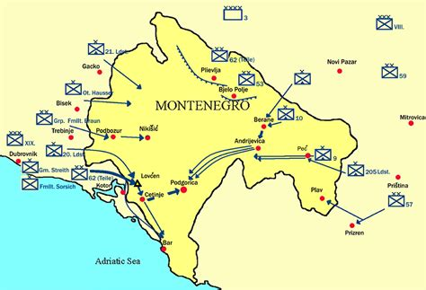 of montenegro montenegrin caign of world war i
