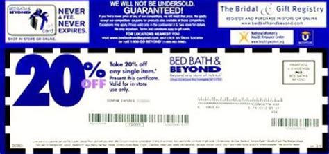 bed bath 20 coupon bed bath and beyond coupons