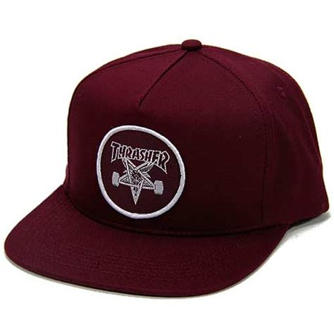 Topi Snapback Thrasher Jaspirow Shopping thrasher magazine skate goat snap back hat in stock at spot skate shop