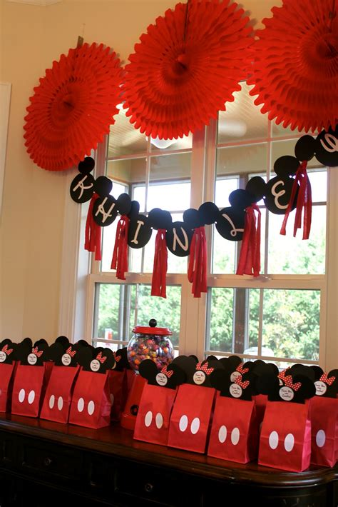 Mickey Mouse Birthday Decorations by Mae Armstrong Designs Minnie Mouse 2nd Birthday