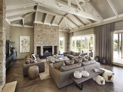 Modern Country Fireplace by The Elements Of Modern Country Style
