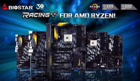 Biostar Racing X370 Gt5 Am4 biostar racing x370 and b350 am4 motherboards released racing x370gt7 leads the pack