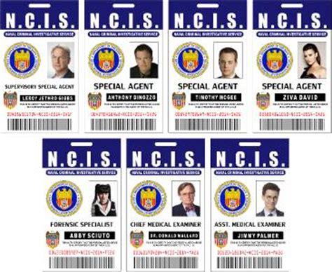 ncis id card template ncis id badge 7 set gibbs tony tim