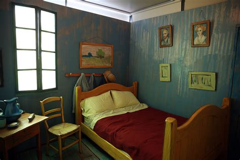 starry bedroom no starry night but a comfy double bed in van gogh s