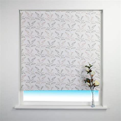 leaf patterned roman blinds sunlover patterned thermal blackout roller blind ebay
