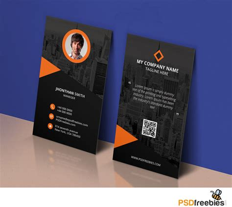 Corporate Id Card Template Psd Free by Modern Corporate Business Card Template Psd