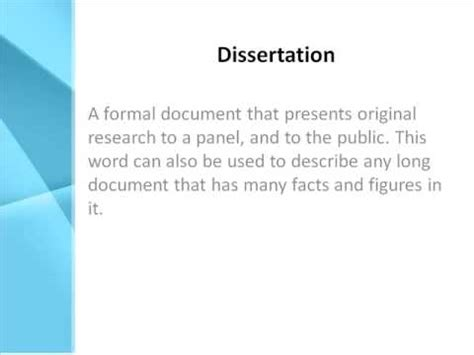 define dissertations dissertation definition what does dissertation