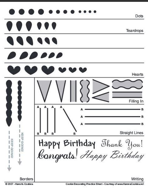 printable practice sheets for cake decorating 18 best tips piping practice sheets images on pinterest