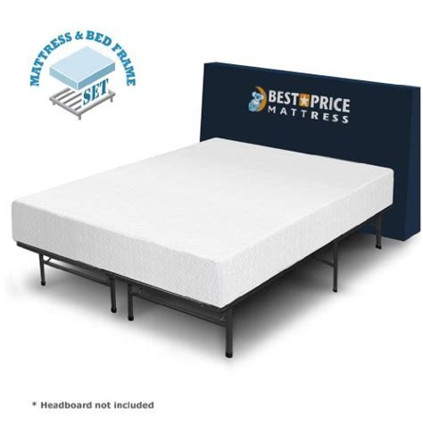 Foam Mattress Bed Frame Best Price Mattress 10 Inch Memory Foam Mattress And Bed Frame Set New Ebay
