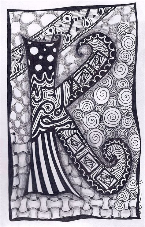 doodle design with name zentangle letter k zebra letters name bunting by