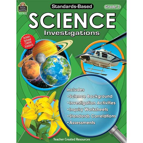 on science standards based science investigations grade 3 tcr8963