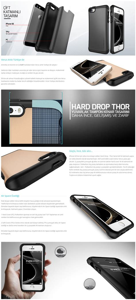 Verus Thor Series For Iphone 5 S Se Satin Silver verus thor series drop iphone se 5 5s steel