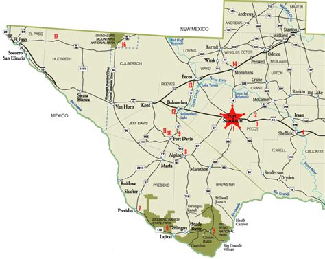 fort texas location map texas map fort stockton