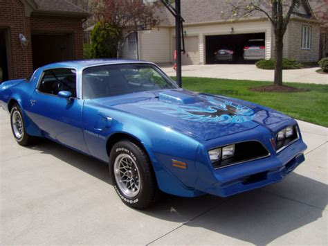 Blue 78 Trans Am by 1978 Trans Am Martinique Blue W72 4 Speed 26000