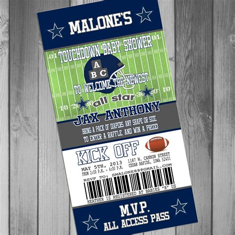 Dallas Cowboys Baby Shower Invitations by Additional Card For Maci With Printing And By Claceydesign